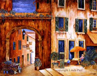 art of french country village in france