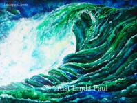 large painting of ocean waves