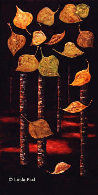 quaking aspen tree art on canvas