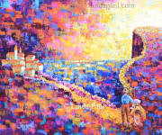 The road less travelled impressionist painting