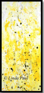 abstract yellow wall art