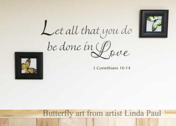 butterfly art and  inspirational verse