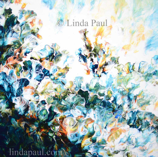 flowers of the ocean abstract art by Linda Paul