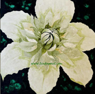 inspirational art  - green flower painting