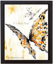 orange and black butterfly art