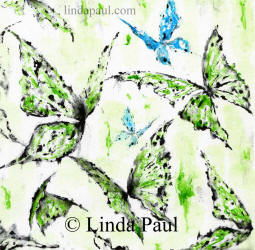 greenery canvas art with blue