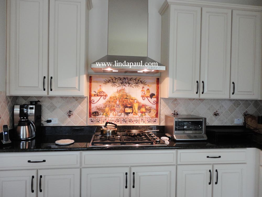 Italian tile backsplash kitchen tiles murals ideas Kitchen tile backsplash