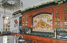 Italian Kitchen custom backsplash