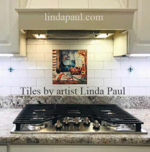 12 x 12 tile mural louisiana kitchen