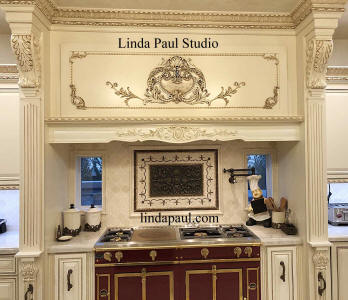 high end kitchen with medallion