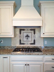 picture of grand vienna fleur de lis installed medallion