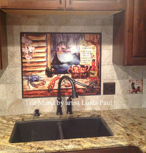 cajun kitchen backsplash installed
