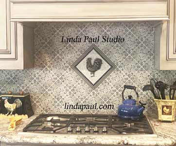 rooster tile backsplash