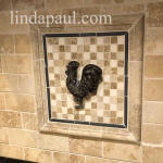 rooster tile onlay