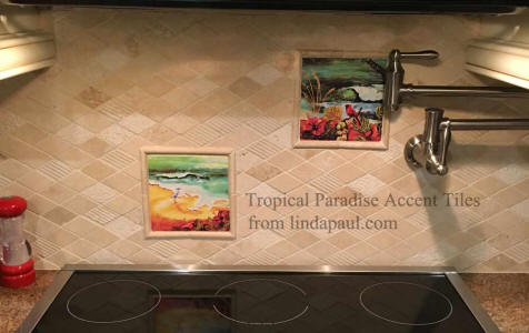 tropical accent tiles
