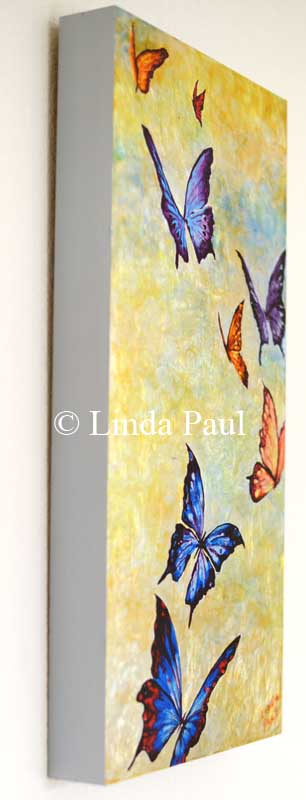 side view of butterfly wall art