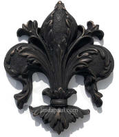 fleur de lis tile onlay bronze oil rubbed