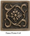 fresco flower accent tile