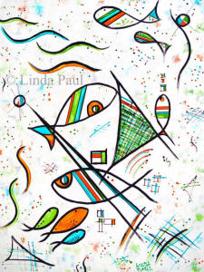 Picasso fish art cubism painting