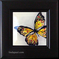framed monarch butterfly art