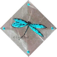 aqua turquoise dragonfly accent
