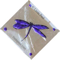 purple dragonfly tile