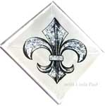 2x2 decorative tile accent fleur de lys