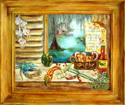 Lousisiana Kitchen framed painting