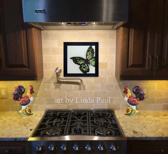 butterfly backsplash