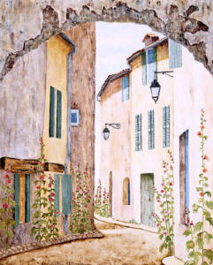 Down The lane french painting