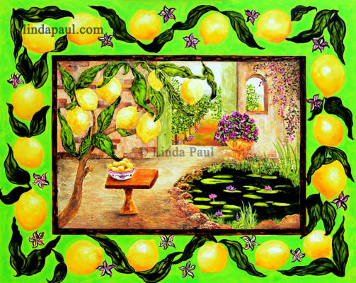The lemon Tree - painting of lemons