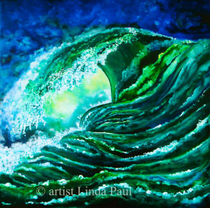 surfs up - hawaii art painting