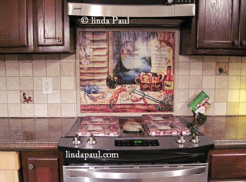 Louisiana Kitchen backsplash design idea from Linda Paul Studio