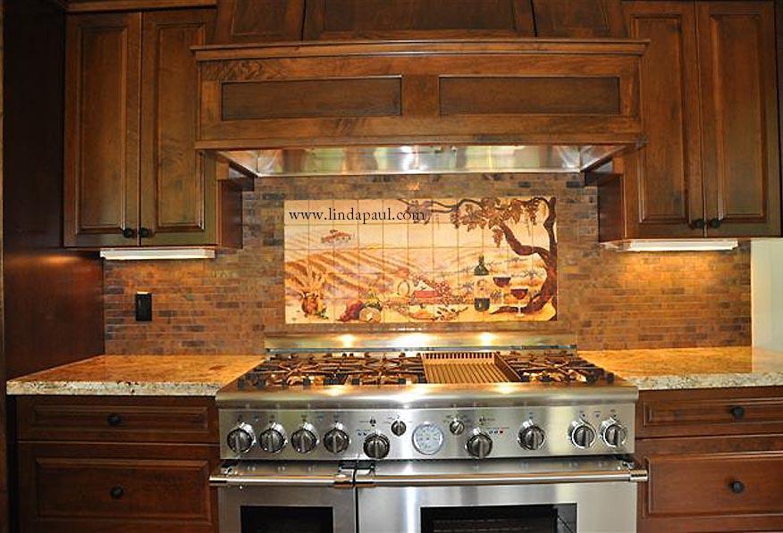 Beautiful Cheap Backsplashes For Kitchens #5: Vineyard_backsplash_mural.jpg