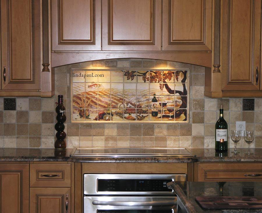 installation pictures of vineyard tile mural photos of