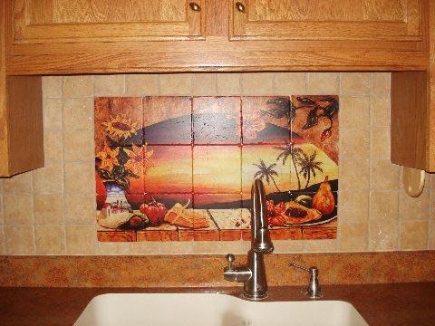mexican tiles sunset tile murals tropical kitchen