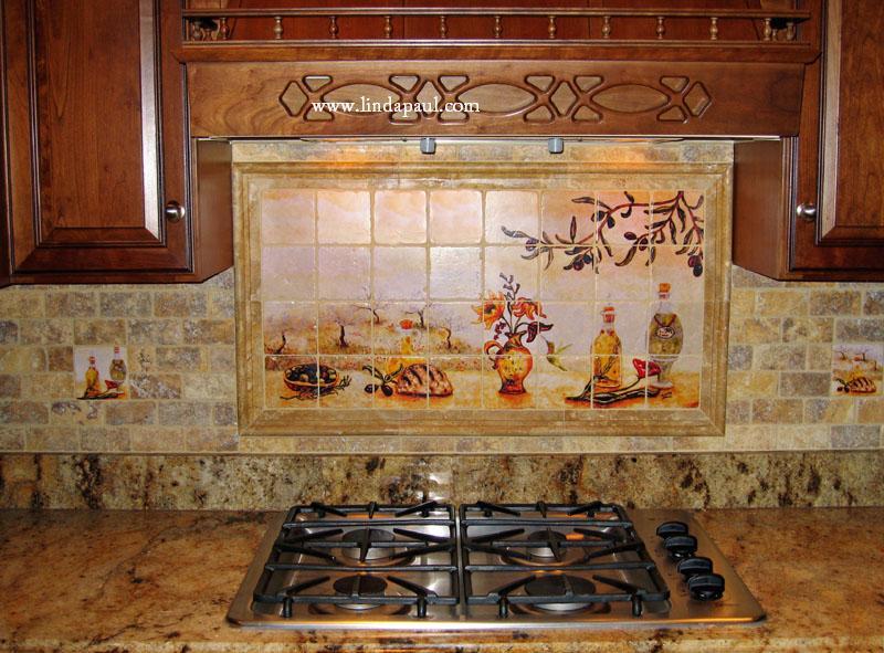 italian design kitchen tile backsplash mural