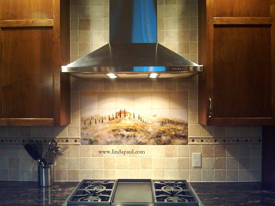 tuscan tile murals kitchen backsplashes tuscany art tiles