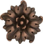 Dahlia metal finish flower accent tile
