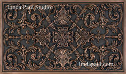 kitchen backspash plaque in copper