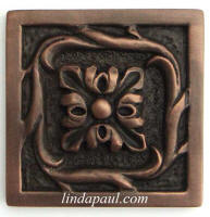fresco deco flower tile 3x3