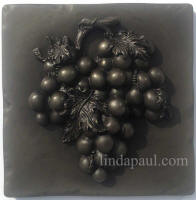 silver grape metal tile