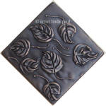 diagonal bronze leaf tile