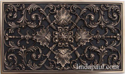 ravenna kitchen backsplash plaque bronze