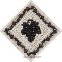 kitchen mosaic medallion with grape
