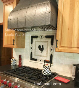 country Kitchen with rooster medallion