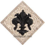 fleur de lis kitchem backsplash small medallion