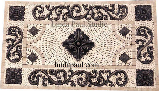 rachels flower 29 x 17 medallion