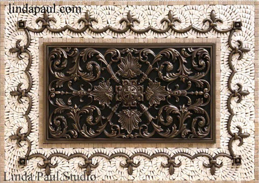 ravenna kitchen backsplash plaque medallion