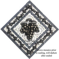 grey and white marble small grape medallion